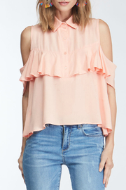 Velvet Heart Jasmine ruffle cold shoulder top - Product Mini Image