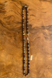 tesoro  Jasper and Silver Necklace - Front cropped