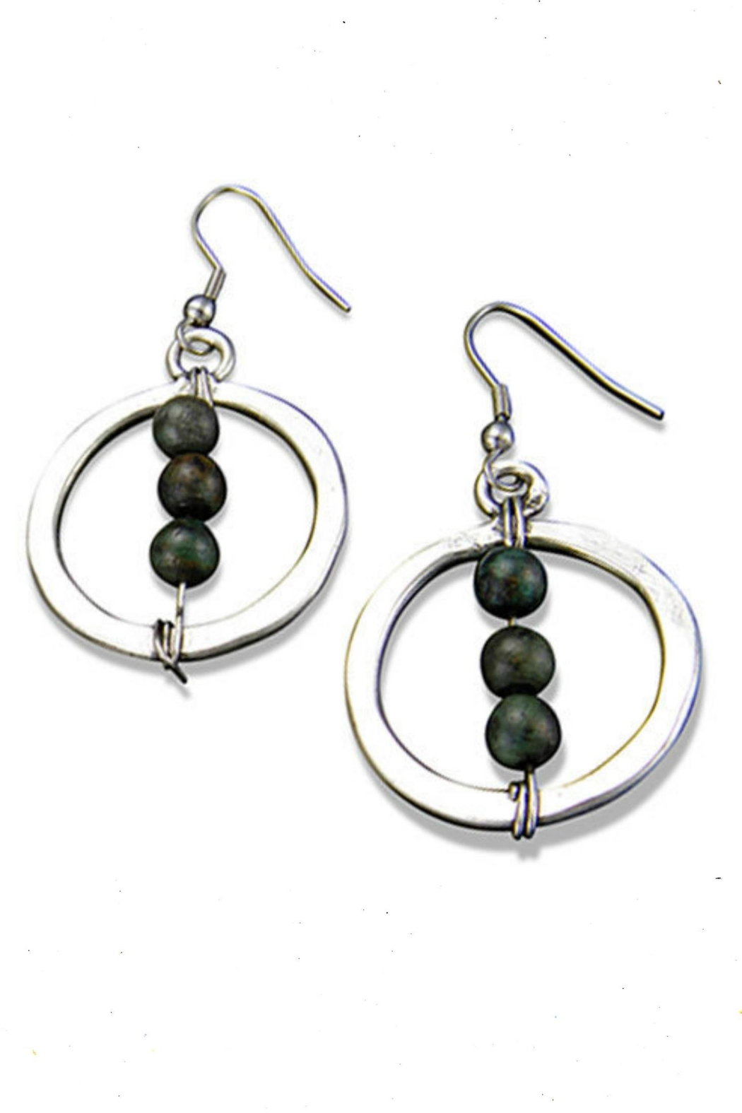 Anju Handcrafted Artisan Jewelry Jasper Globe Earrings - Front Cropped Image