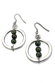 Anju Handcrafted Artisan Jewelry Jasper Globe Earrings - Product Mini Image