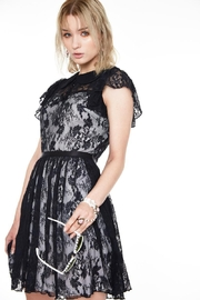 Jawbreaker Lace Overlay Collared-Dress - Front cropped