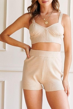 JaxKelly Lazy Days Two Piece Lounge Set In Cream - Product List Image