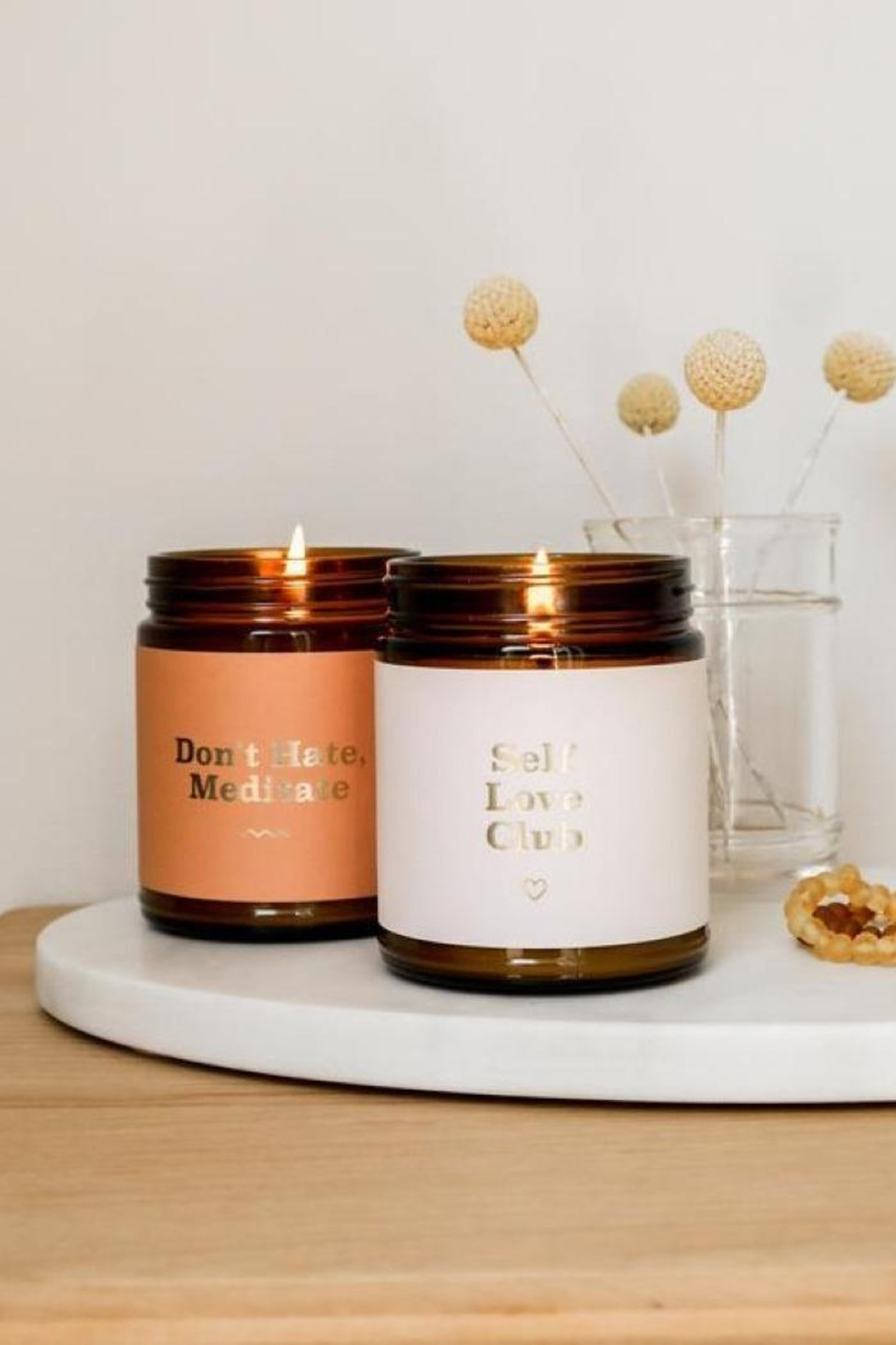JaxKelly Mantra Candle - Don't Hate - Front Full Image