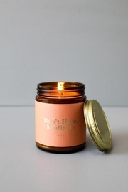 JaxKelly Mantra Candle - Don't Hate - Front cropped