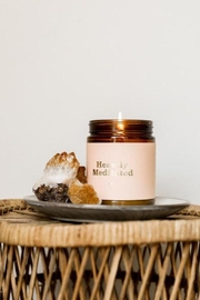 JaxKelly Mantra Candle - Heavily Meditated - Front full body