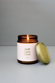 JaxKelly Mantra Candle - Self Love Club - Front cropped