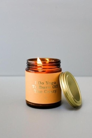 JaxKelly Mantra Candle - Yoga - Front cropped
