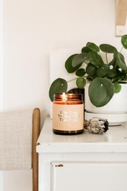 JaxKelly Mantra Candle - Yoga - Front full body