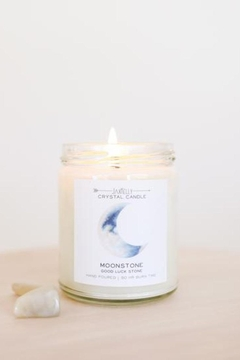 JaxKelly Moonstone Crystal Candle - Brings Good Luck - Product List Image
