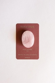 JaxKelly Rose Quartz Touch Stone - Front cropped