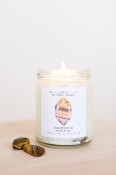 JaxKelly Tigers Eye Crystal Candle - Power - Product List Image