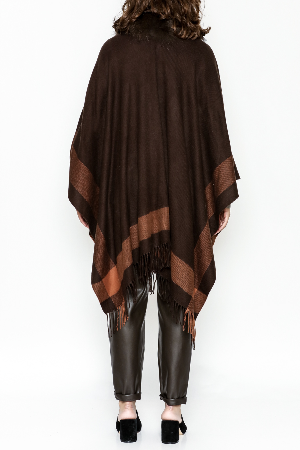 Jay Ley Collections Fox Fur Wrap - Back Cropped Image