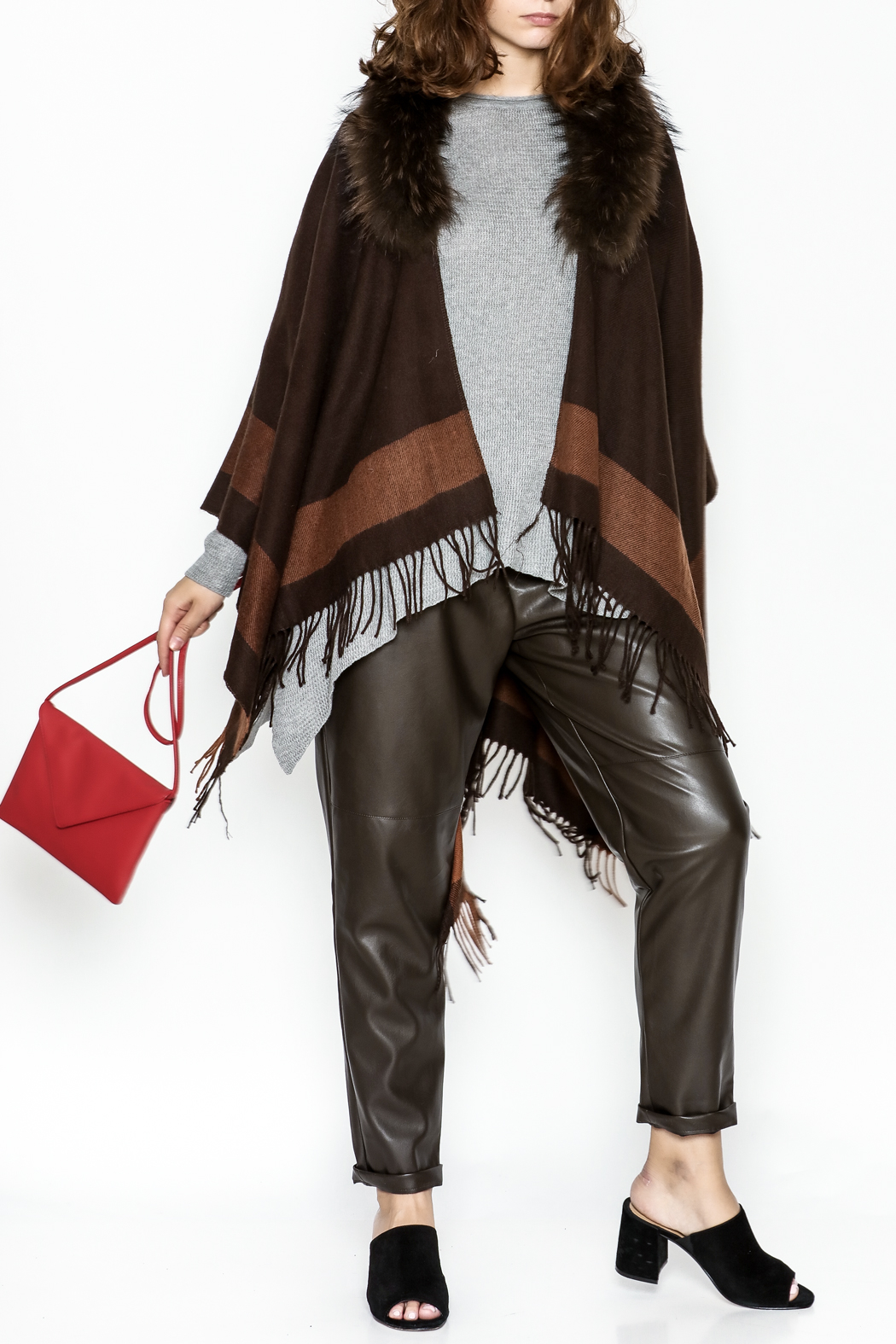Jay Ley Collections Fox Fur Wrap - Main Image