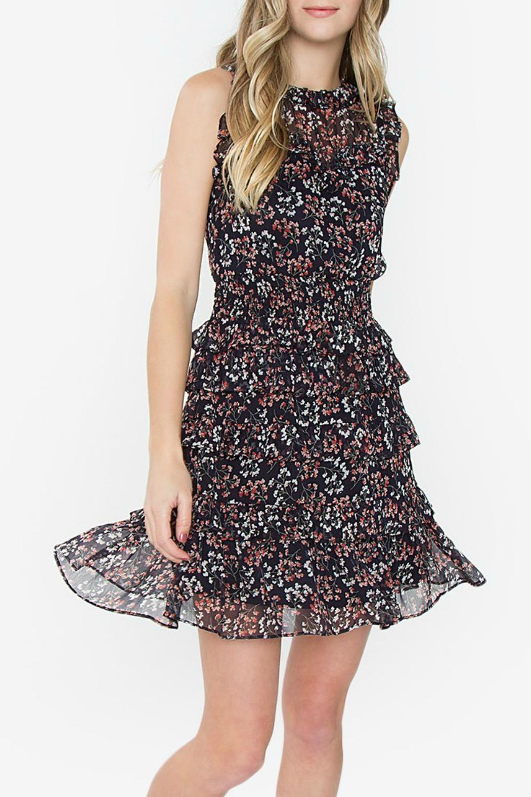 ALB Anchorage Jay Ruffled Dress - Side Cropped Image
