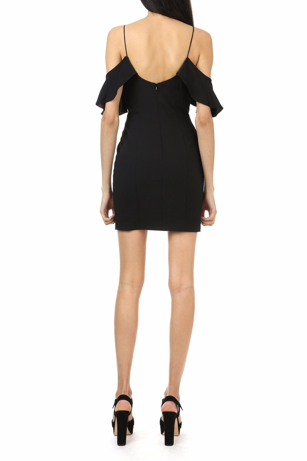 Jay Godfrey Black Cold-Shoulder Mini - Side Cropped Image