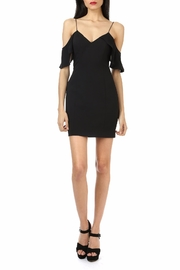 Jay Godfrey Black Cold-Shoulder Mini - Front cropped