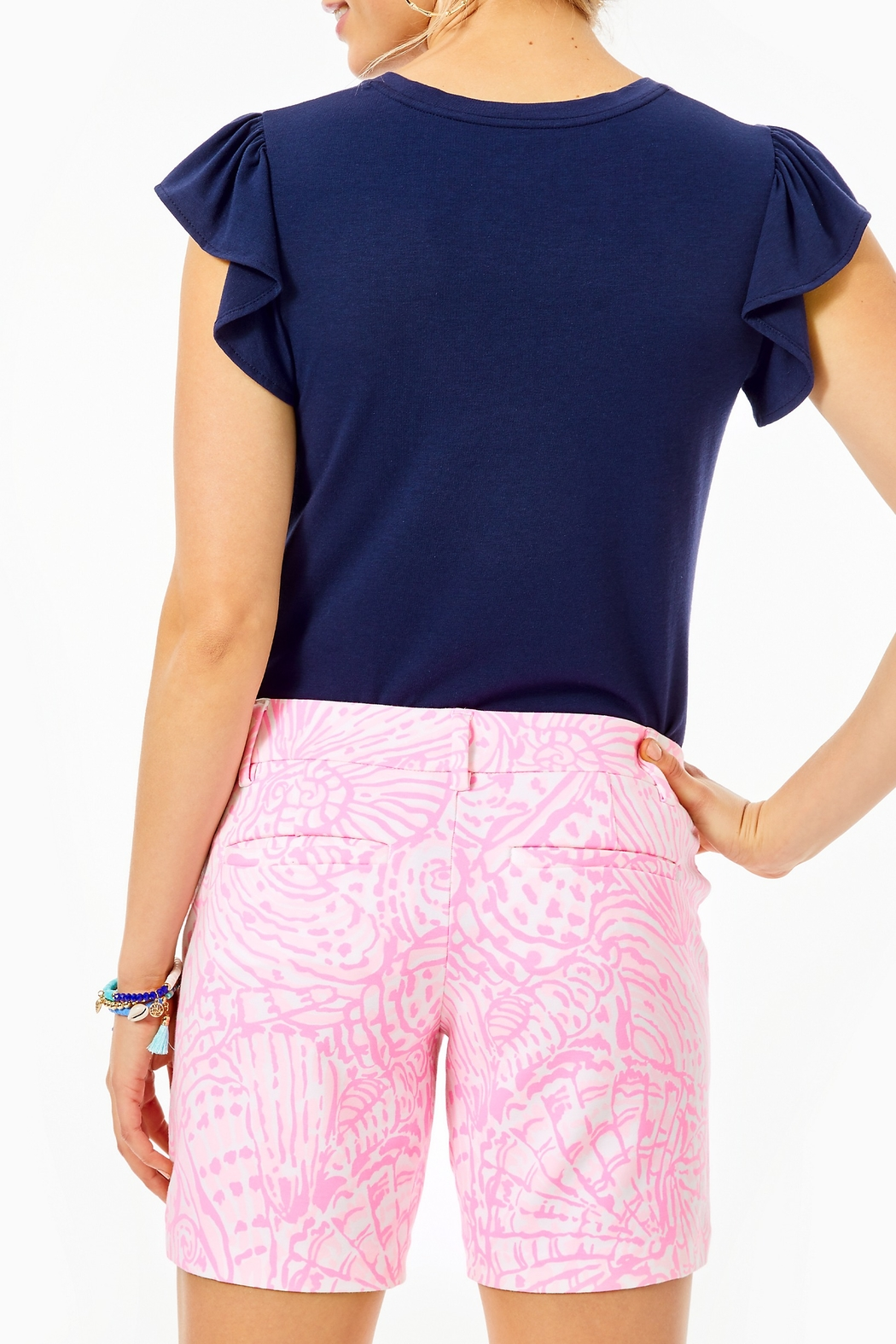 Lilly Pulitzer  Jayne Knit Short - Side Cropped Image