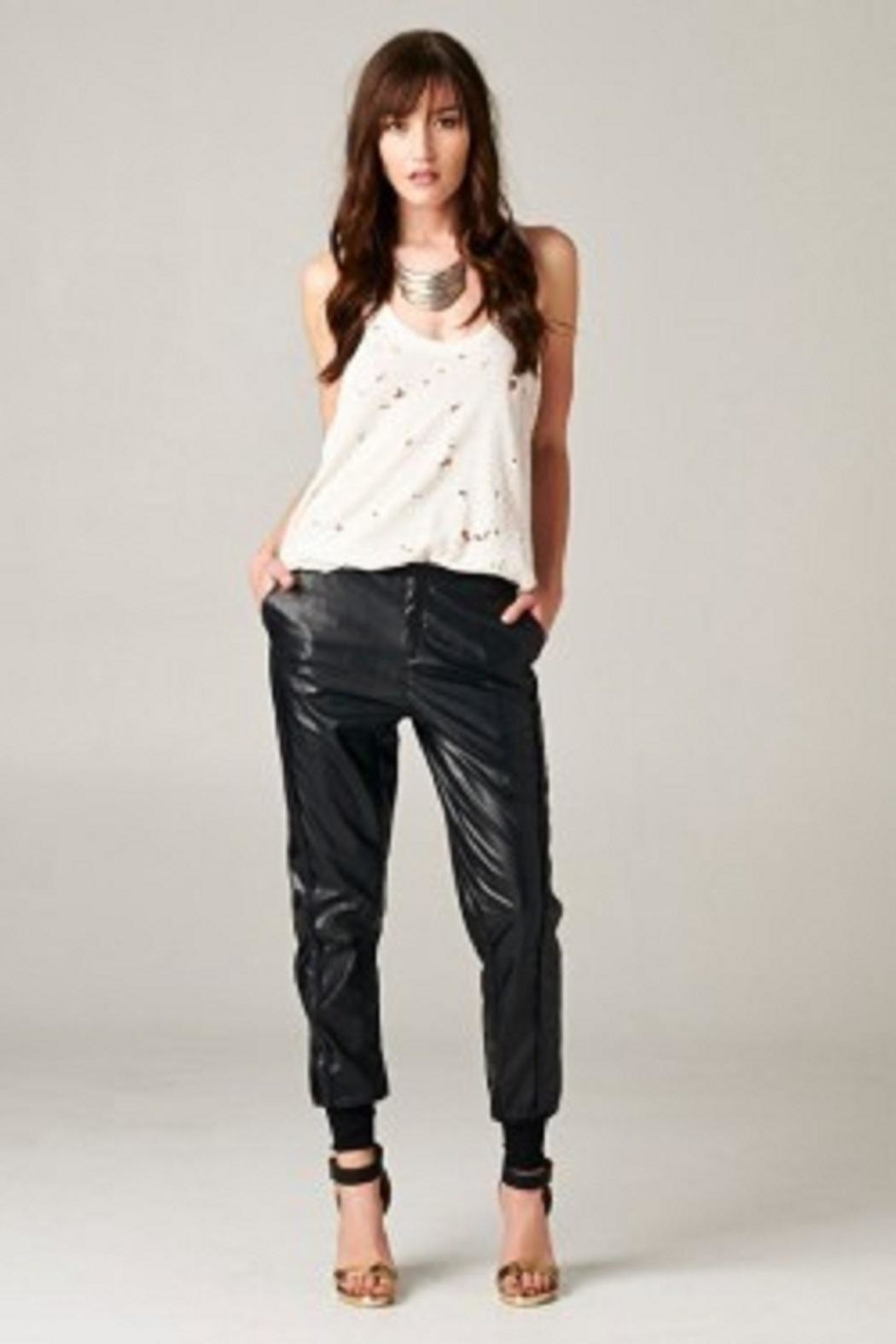 TOV Jazzy Leatherette Joggers - Main Image