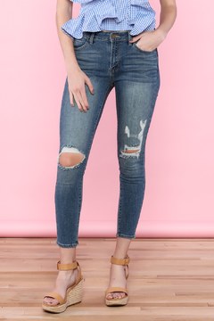 Shoptiques Product: Distressed Ankle Jeans