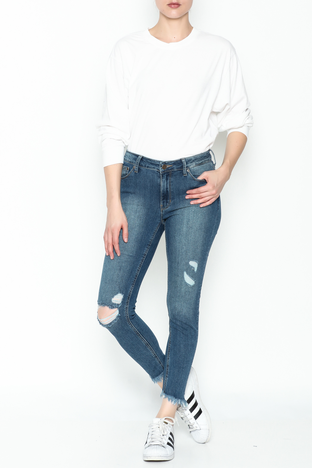 JBD High Rise Skinny Jean - Side Cropped Image