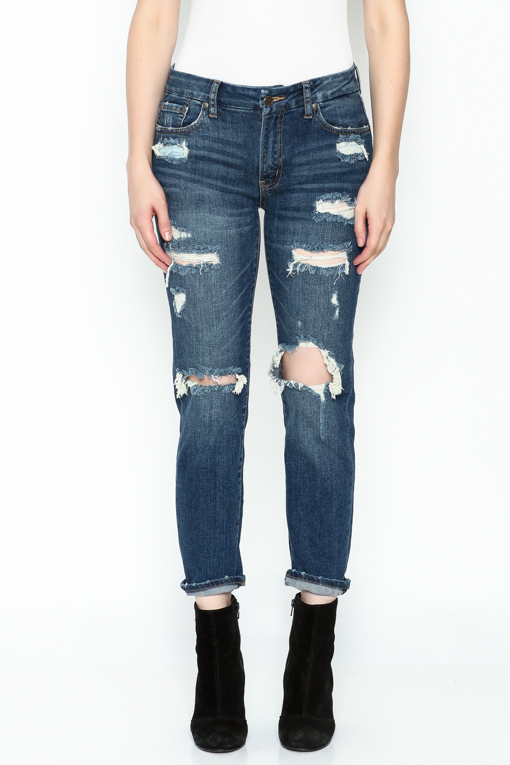 JBD Relaxed High Rise Jean - Front Full Image