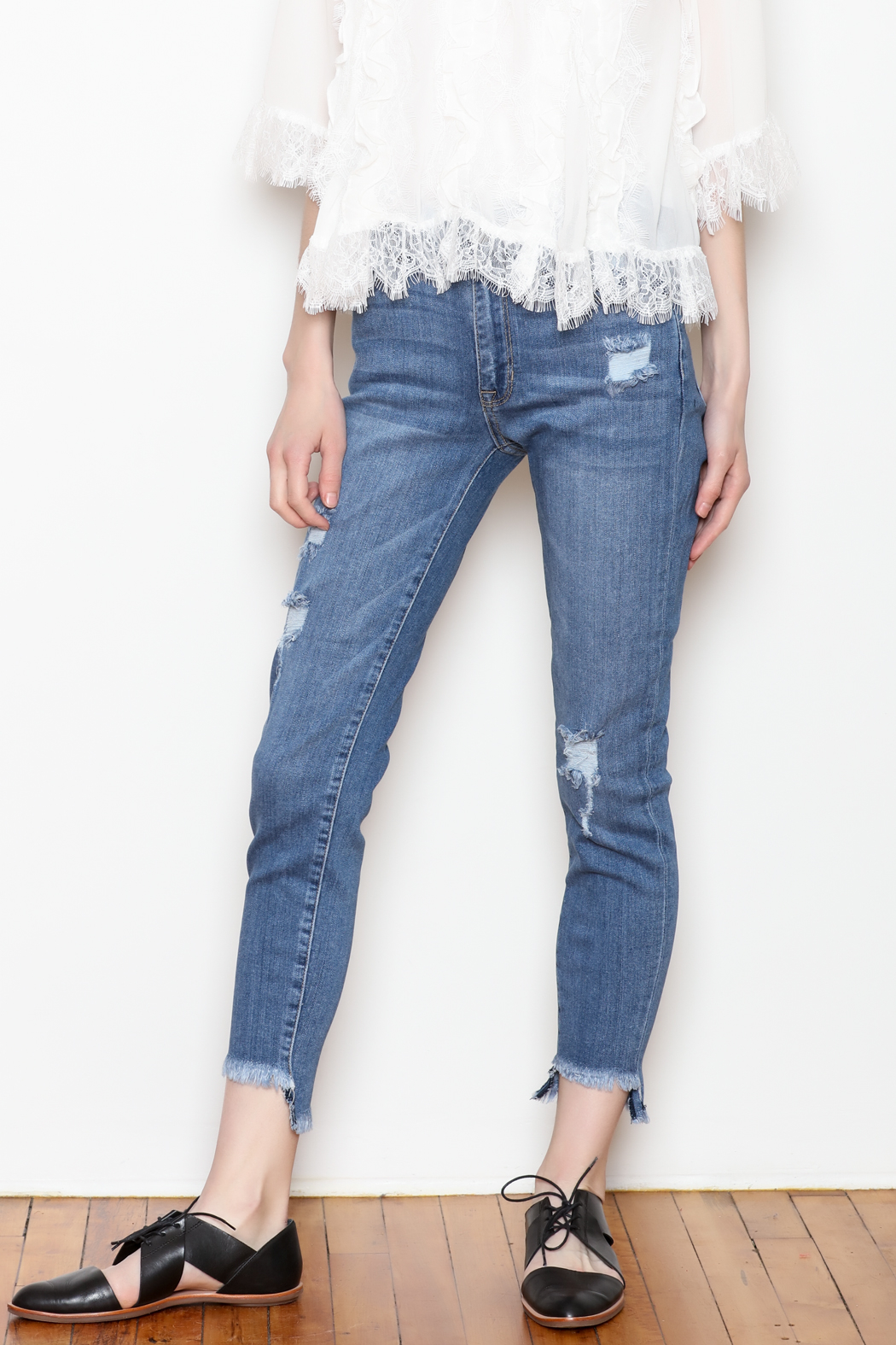 JBD Ripped Denim Jeans - Main Image