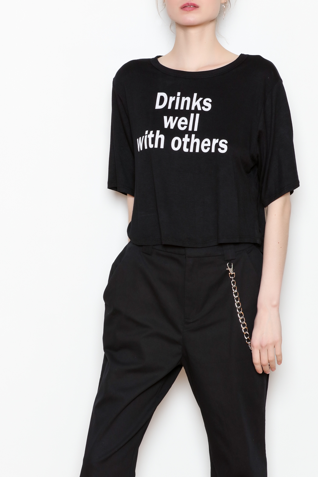 JC Fits Drinks Well With Others Tee - Front Cropped Image