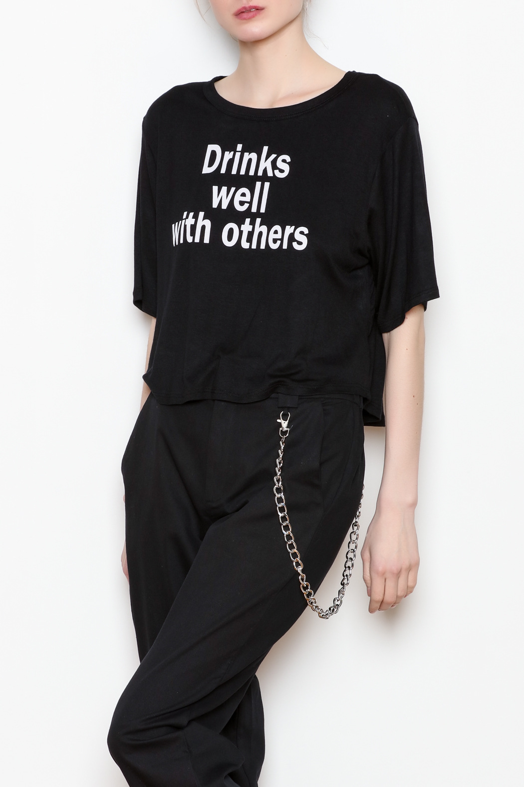 JC Fits Drinks Well With Others Tee - Front Full Image