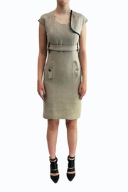 JC DE CASTELBAJAC Beige Leather Dress - Product Mini Image