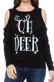 JC Fits Deer Printed Top - Product Mini Image