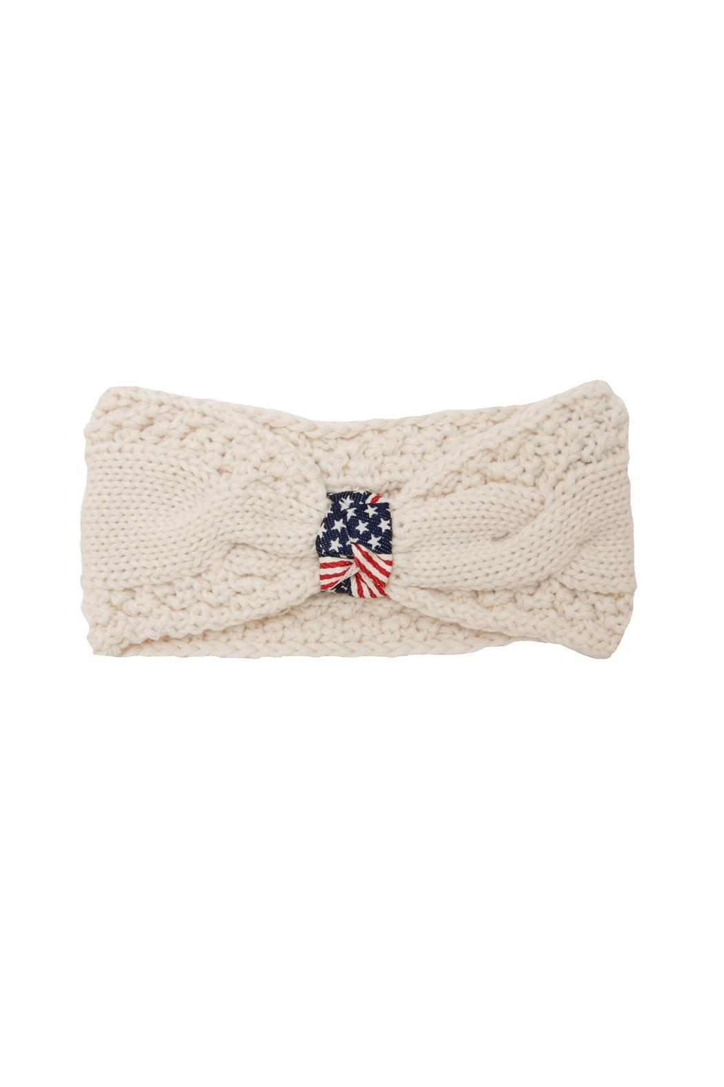 JChronicles American Flag Knit Headband - Front Cropped Image