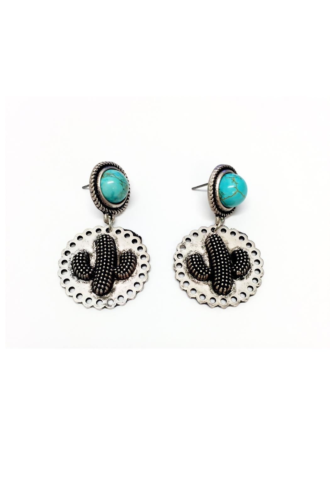 JChronicles Cactus Turquoise Earrings - Front Full Image