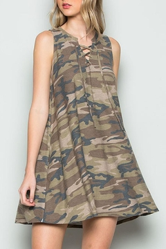 JChronicles Camo Lace Up Dress - Product List Image