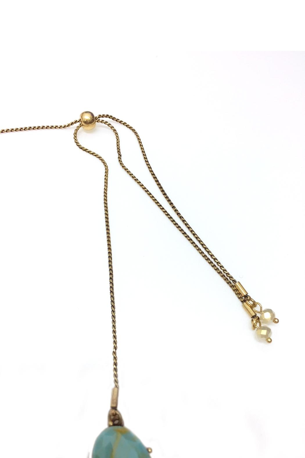 JChronicles Facet Stone Necklace - Back Cropped Image