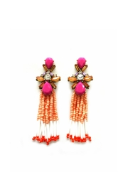 JChronicles Facet-Stone Tassel Earring - Front cropped