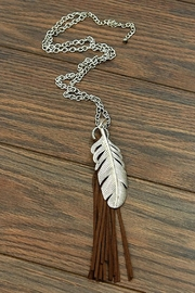 JChronicles Feather Tassel Necklace - Front cropped