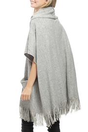 JChronicles Front-Pocket Knit Poncho - Front full body