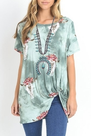 JChronicles Full-Squash-Blossom Natural-Turquoise Necklace - Front full body