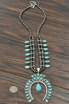 JChronicles Full-Squash-Blossom Natural-Turquoise Necklace - Alternate List Image