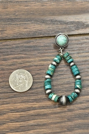 JChronicles Heishi Natural-Turquoise Post-Earrings - Front full body