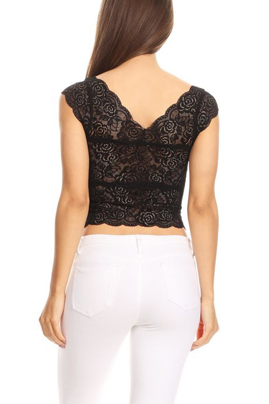 JChronicles Lace Crop Top - Side Cropped Image