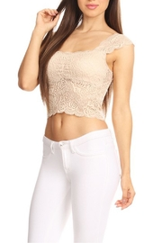 JChronicles Lace Crop Top - Front full body