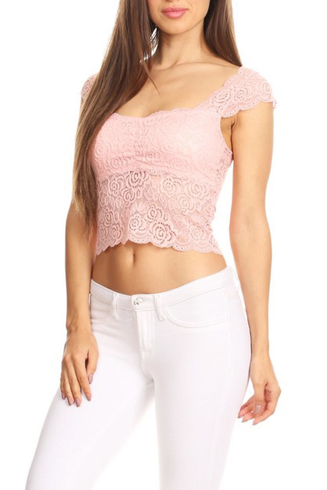 JChronicles Lace Crop Top - Front Full Image
