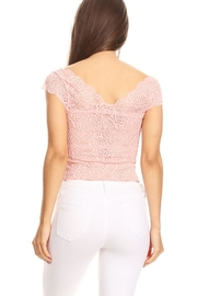 JChronicles Lace Crop Top - Back cropped