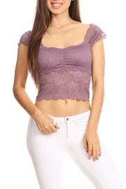 JChronicles Lace Crop Top - Front cropped