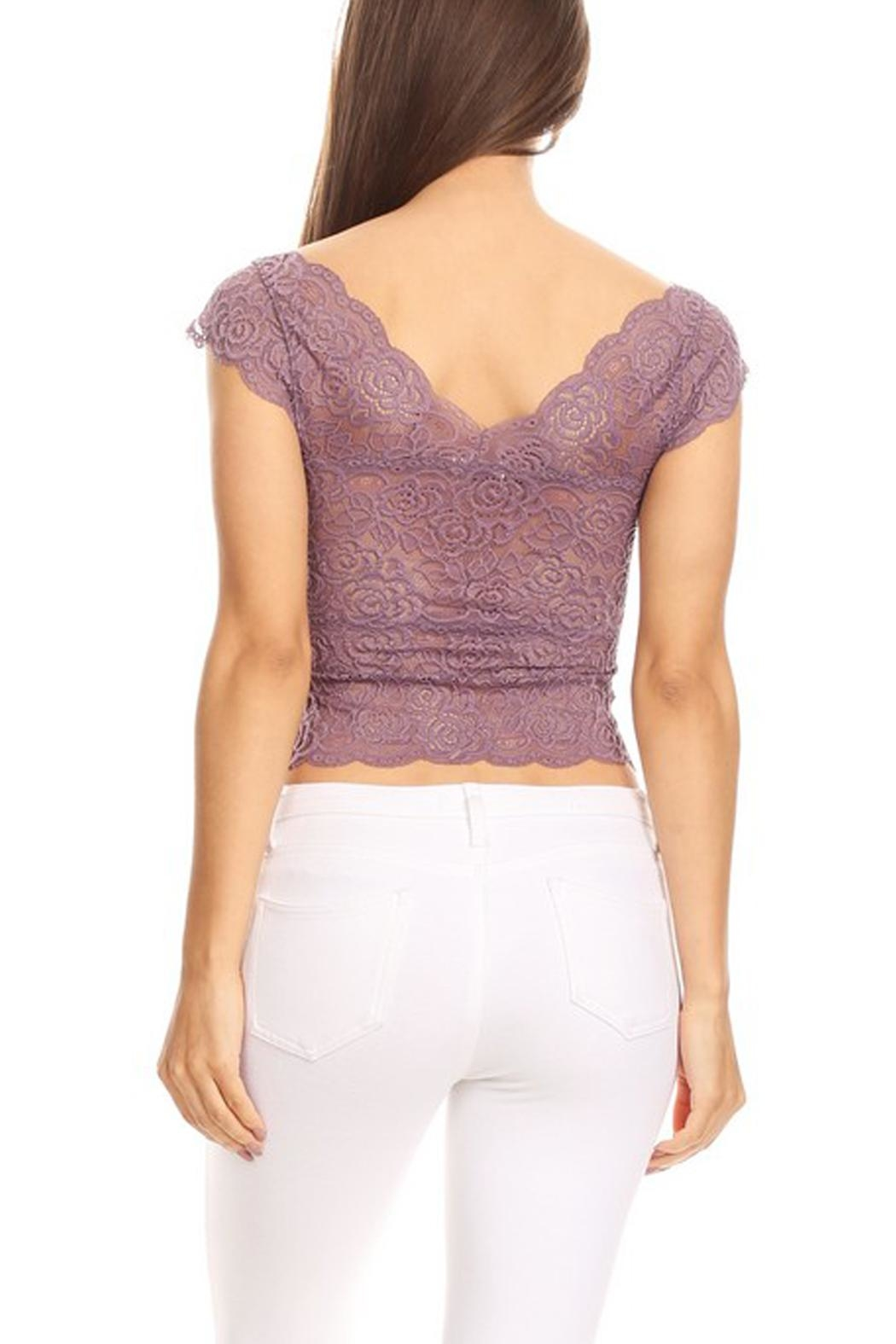 JChronicles Lace Crop Top - Back Cropped Image