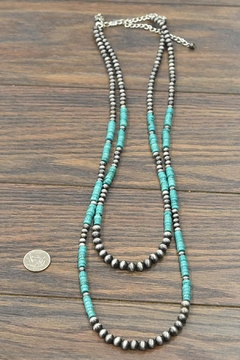 JChronicles Natural-Heishi-Turquoise Navajo-Pearl Necklace - Alternate List Image