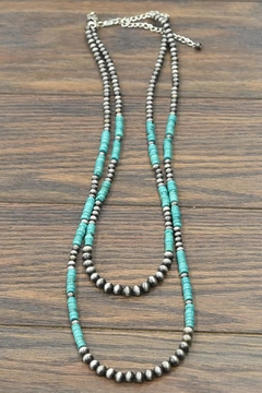 JChronicles Natural-Heishi-Turquoise Navajo-Pearl Necklace - Product List Image