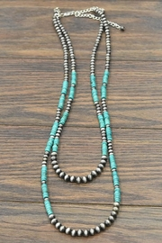 JChronicles Natural-Heishi-Turquoise Navajo-Pearl Necklace - Product Mini Image