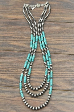 JChronicles Natural Heishi-Turquoise Navajo-Pearl Necklace - Product List Image